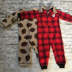 Bundle of GUC Fleece Jumpsuits